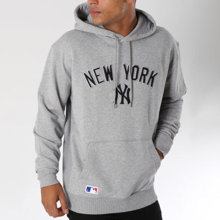 New Era - Sweat Capuche Post Grad Pack New York Yankees Gris Chiné
