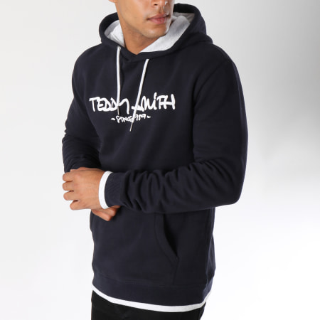 Teddy Smith Sweat Capuche Siclass Bleu Marine