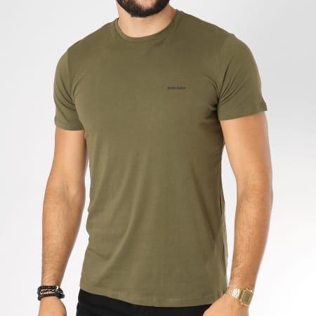 Diesel - Lot De 3 Tee Shirts Jake 00SPDG-0AALW Noir Vert Kaki Bleu Marine