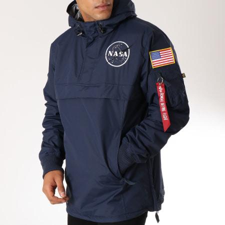 Alpha Industries - Veste Outdoor Avec Poche Bomber Nasa Bleu Marine