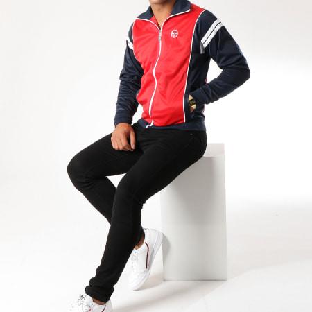 Sergio Tacchini - Veste Zippée Scirocco Rouge Bleu Marine