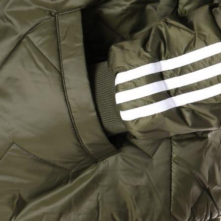 adidas Veste Zippée SST Quilted DL8697 Vert Kaki Blanc
