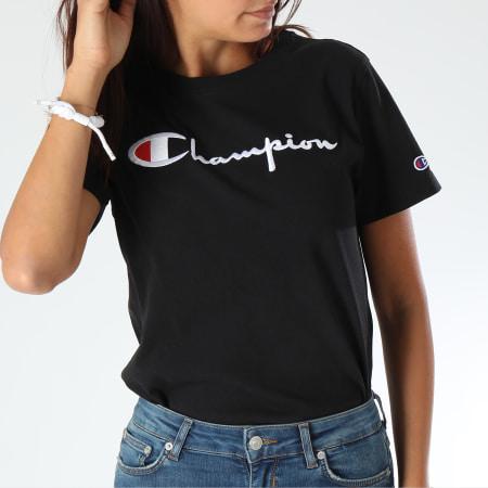 Champion - Tee Shirt Femme 110992 Noir
