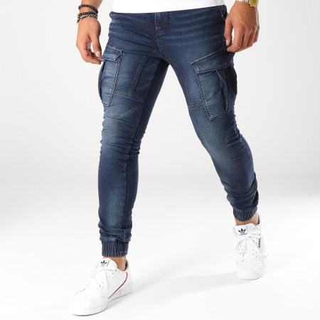 Sky Rebel - Jogger Pant H1324K61657D147 Bleu Denim