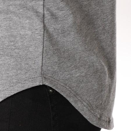 Frilivin - Tee Shirt Manches Longues Oversize 2091 Gris Chiné