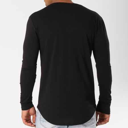 Frilivin - Tee Shirt Manches Longues Oversize 2091 Noir