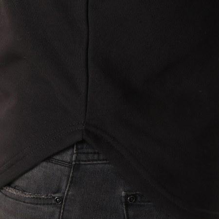 LBO - Sweat Capuche Oversize Avec Bandes 501 Noir Blanc