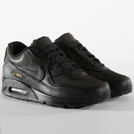 nike air max 90 premium black metallic gold