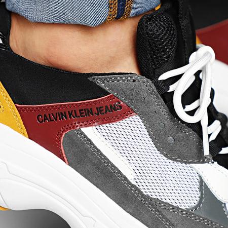 Calvin Klein - Baskets Marvin Mesh Lycra Suede Nappa S1771 White Black Grey Rosso