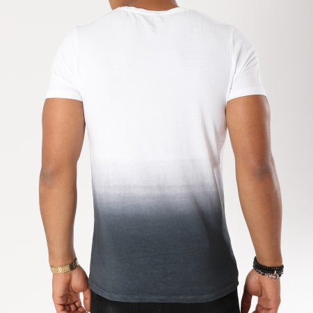 Luxury Lovers - Tee Shirt Chill Blanc Dégradé Noir