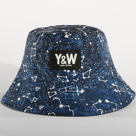 Y et W - Bob Réversible Constellation Bleu Marine Noir