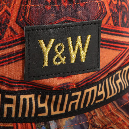 Y et W - Bob Réversible Baroque Orange Noir