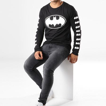 Batman - Tee Shirt Manches Longues Logos Noir
