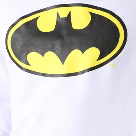 Batman - Sweat Capuche Classic Logo Blanc