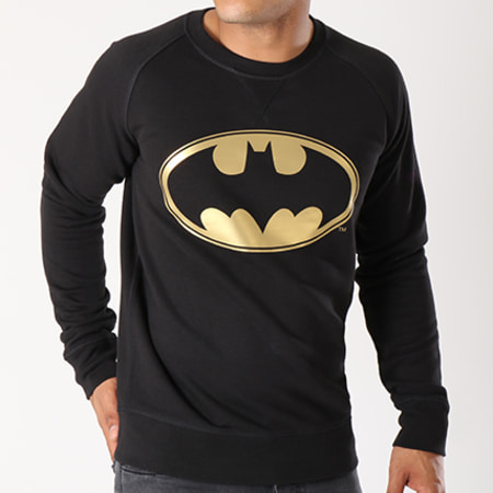 Batman - Sweat Crewneck Gold Logo Noir