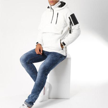 Frilivin - Veste Outdoor Fourrure QQ509 Blanc