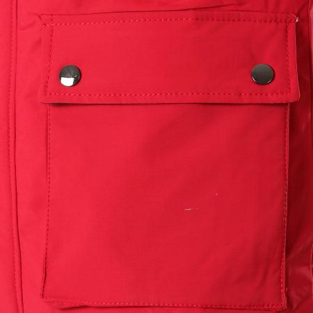 MTX - Parka Fourrure S793 Rouge Noir