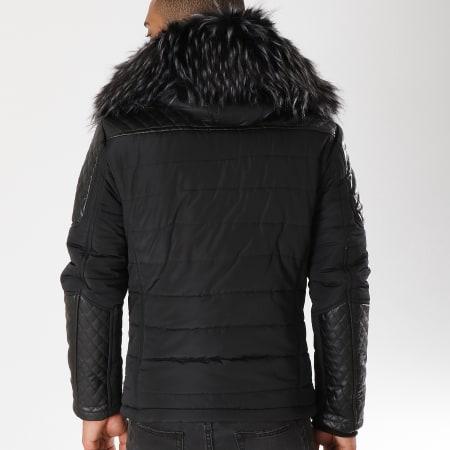 Terance Kole - Blouson Fourrure 79637 Noir