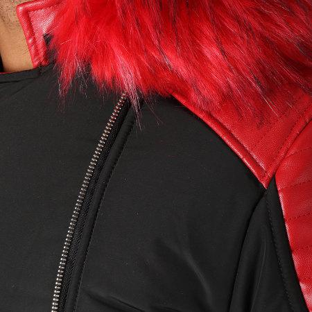 Terance Kole - Blouson Fourrure 79638 Noir Rouge