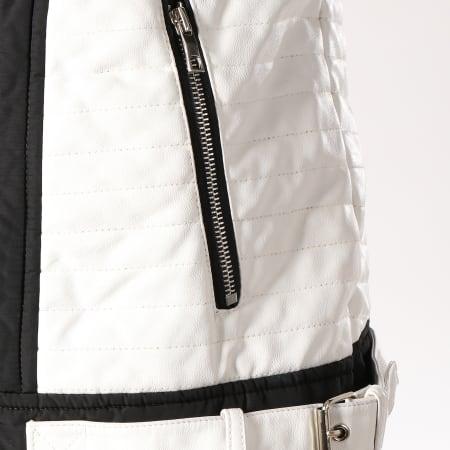 Terance Kole - Blouson Fourrure 79621 Noir Blanc