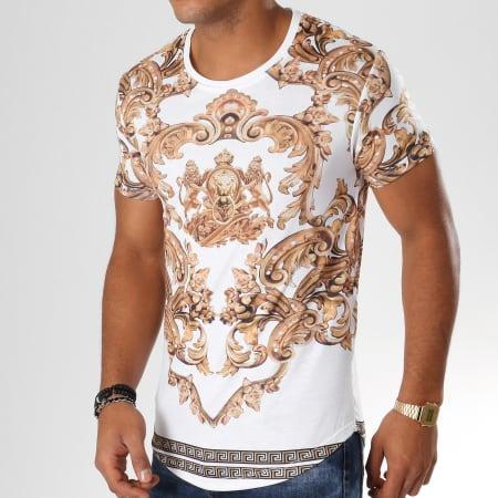 Uniplay - Tee Shirt Oversize 16345-AJ909 Blanc Doré Renaissance