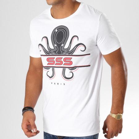 13 Block - Tee Shirt Octopus Blanc