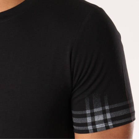 Berry Denim - Tee Shirt Oversize JAK-074 Noir Rouge Gris