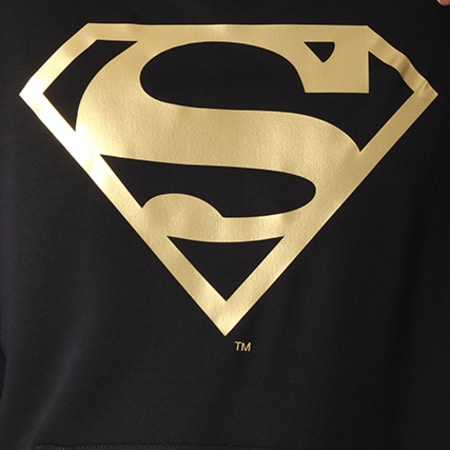 Superman - Sweat Capuche Gold Logo Noir