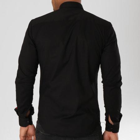 LBO - Chemise Manches Longues Avec Bandes Slim Fit 543 Noir