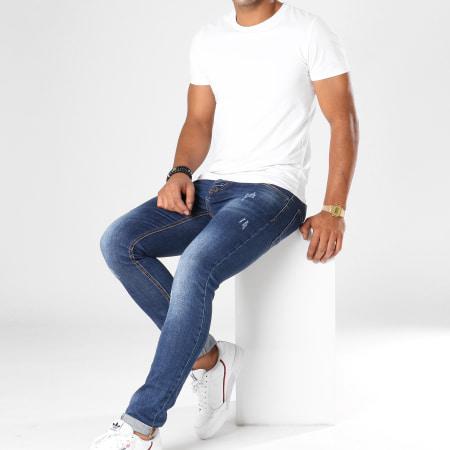 Aarhon - Jean Slim 0164PT Bleu Denim