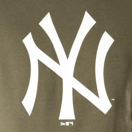 New Era - Sweat Crewneck Team Logo New York Yankees 11863702 Vert Kaki Blanc
