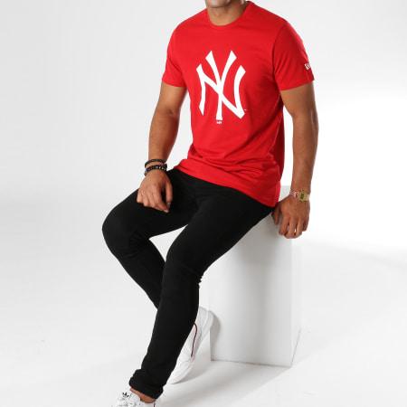 New Era - Tee Shirt Team Logo New York Yankees 11863819 Rouge