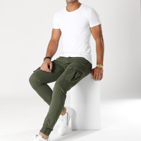 Paname Brothers - Pantalon Cargo Jerry Vert Kaki
