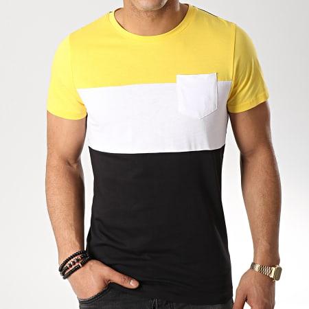 LBO - Tee Shirt Poche 559 Noir Blanc Jaune