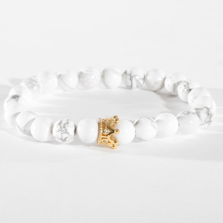 California Jewels - Bracelet B920-2 Blanc Doré