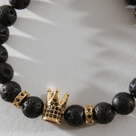 California Jewels - Bracelet B925 Noir Doré