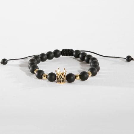 California Jewels - Bracelet B928 Noir Doré