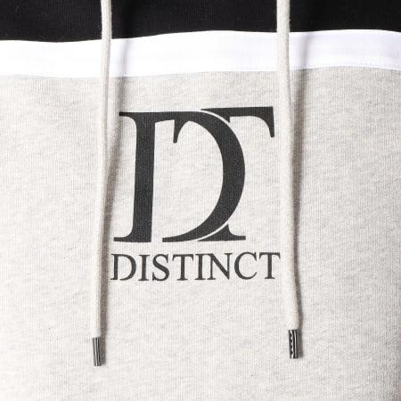Distinct - Sweat Capuche Bicolore Gris Chiné Noir