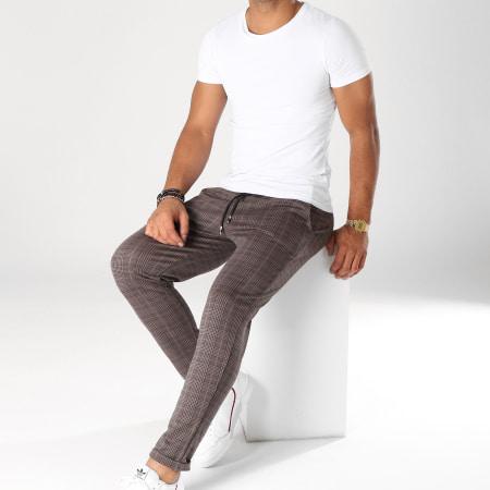 Frilivin - Pantalon A Carreaux 1405 Marron