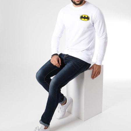 Batman - Sweat Crewneck Calssic Logo Back Blanc
