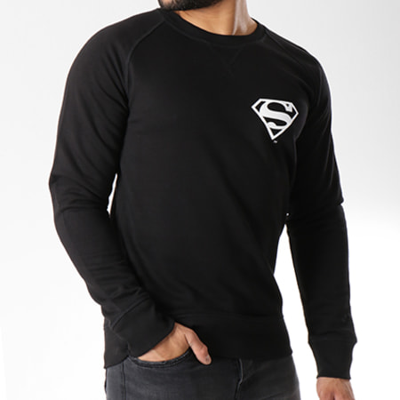 Superman - Sweat Crewneck Back Logo Noir