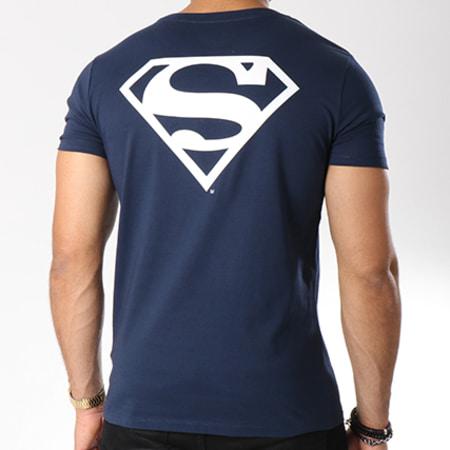 Superman - Tee Shirt Back Logo Bleu Marine