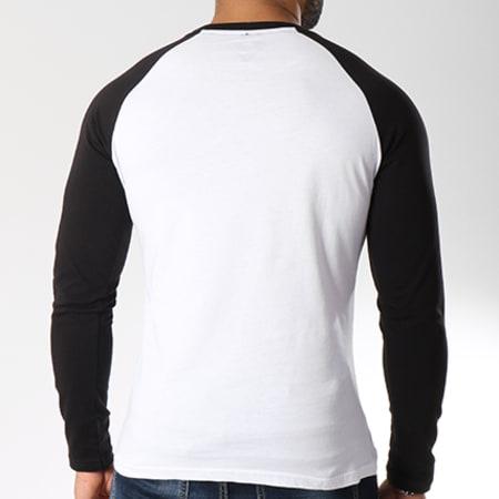 Superman - Tee Shirt Manches Longues Logo Blanc Noir