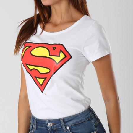 Superman - Tee Shirt Femme Classic Logo Blanc