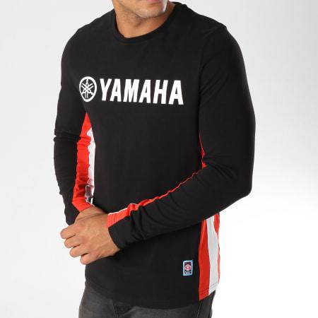 Yamaha - Tee Shirt Manches Longues Avec Bandes Long Noir Blanc Rouge
