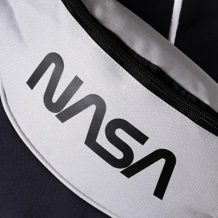 NASA - Sacoche Banane Worm Logo Camouflage Gris Clair