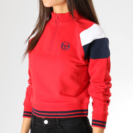 Sergio Tacchini - Swet Femme Crop Irina Rouge Blanc Bleu Marine