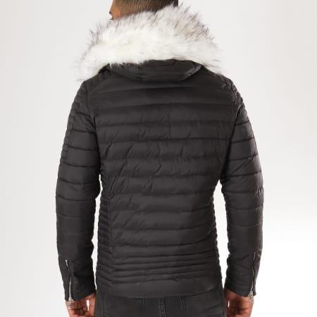 Comme Des Loups - Doudoune Fourrure F1833 Noir Blanc