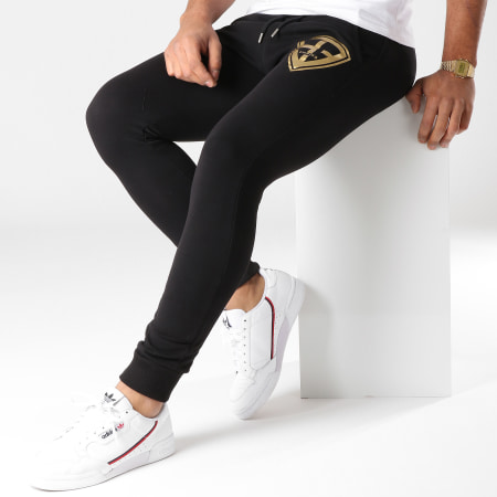 93 Empire - Pantalon Jogging 93 Empire Noir Doré