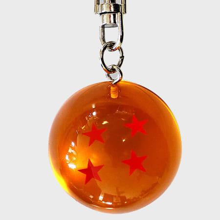 Dragon Ball Z - Porte Clés Boule De Cristal Orange Argenté